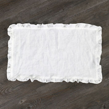 Pure Washed Linen Ruffled Placemats