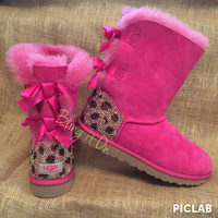 Bailey Bow Blinged Ugg boots