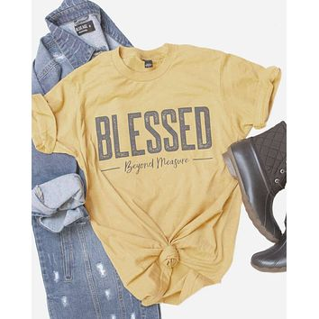 Blessed Beyond Measure - (mustard)