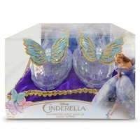 Disney's Cinderella Enchanted Waltz Light-Up Costume Glass Slippers - Toddler (Silver/Royal Purple)