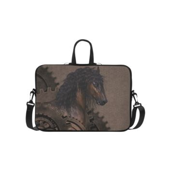 Personalized Laptop Shoulder Bag Steampunk Horse Handbags 15 Inch