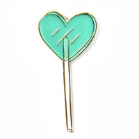 Heart Lolli Pin - Key Lime