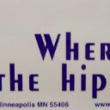 Purple Hippie Bumper Sticker
