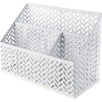 Staples® White Zigzag Desk Organizer (26850) | Staples®