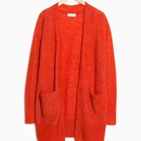 & Other Stories | Mohair & Wool Cardigan | Red