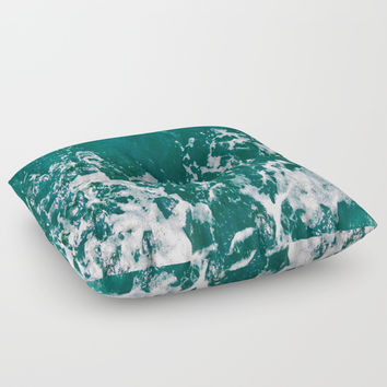 Emerald Waters Floor Pillow by ARTbyJWP