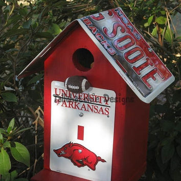 30% OFF Today Arkansas Razorbacks Birdhouse Collegiate Birdhouse Birdhouse Birdhouses Razorbacks Arkansas