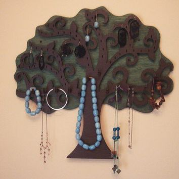$65.00 Large Tree Wall Hanging Jewelry Holder  213 X 20 by GreekArt