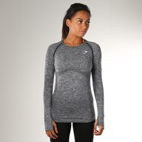 Gymshark Seamless Long Sleeve T-Shirt - Charcoal