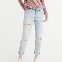 Womens Low-Rise Slim Boyfriend Jeans | Womens Bottoms | Abercrombie.com