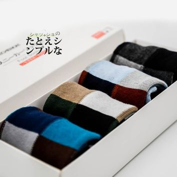 PEONFLY Men's Square  Motion Socks (gift box not included)
