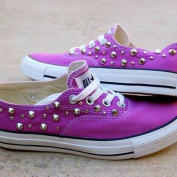 CREYONB Orchid Studded Converse - The Converse Vans Look-Alike