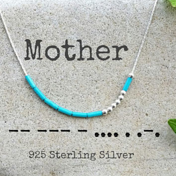 Mother Necklace, Mama necklace, Morse code, Morse Code Jewelry, Custom Morse Code Necklace, Mum Mom Morse Code Necklace, Mother Gift