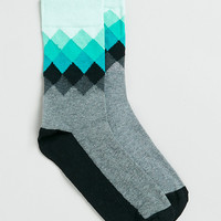 Grey diamond design socks - Men's Socks 3 for $15 - Offers