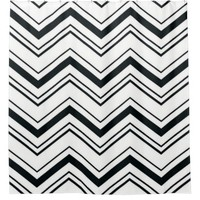 Shower Curtain/Black and White Zig Zags Shower Curtain