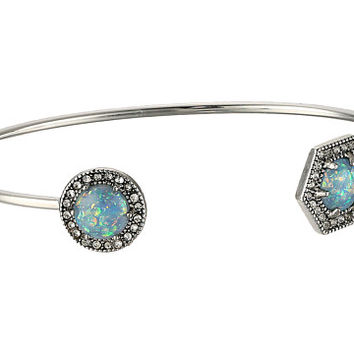 Rebecca Minkoff Opal Baby Cuff Bracelet Antique Silver/Blue Opal - Zappos.com Free Shipping BOTH Ways