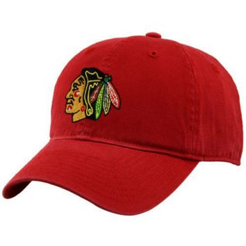 Reebok Chicago Blackhawks Red Basic Logo Slouch Hat