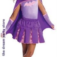 Girls Batgirl Cape With Puff Hanger - Purple - Small (4-6)