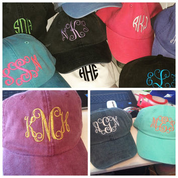 Embroidered Hat, Monogrammed Hat, Distressed Hat, Personalized Hat, Custom Hat, Unstructured Hat