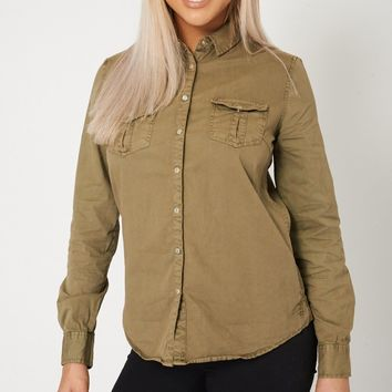 Pocket Front Collar Shirt Ex-Branded Plus Sizes Available