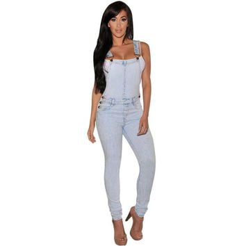 Women Girls Washed Jeans Casual Hole Mid Full Length Jeans Summer Drawstring Overalls Good Quality