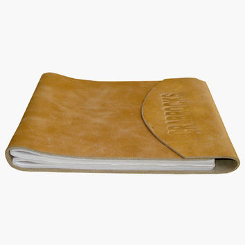 Leather Crunch Short Personal Journal/ Diary