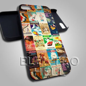 AJ 496 Vintage Disney Posters - iPhone 4/4s/5 Case - Samsung Galaxy S2/S3/S4 Case - Black or White