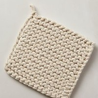 Crocheted Potholder by Anthropologie in Neutral Size: One Size Kitchen
