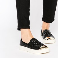New Look Quilted Slip On Trainers with Toe Cap