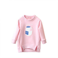 Trendy Toddler Bottle Print  Kid Girl Pullover Coat Baby Warm Tops 2-7 Y