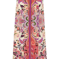 Etro - Printed silk-georgette maxi skirt