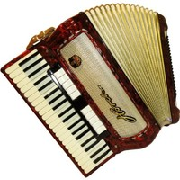 Horch Weltmeister Piano Accordion, Full 120 Bass 13 Switches, German Keyboard Accordian, Case, 375