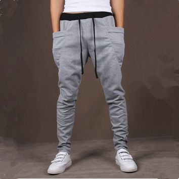 8 Colors 2016 Unique Pocket Mens Joggers Cargo Men Pants Sweatpants Harem Pants Men Jog Sport Pants Men Pantalones Hombre