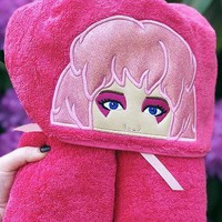 Jem and the Holograms Embroidered Hooded Towel - Available for Adults & Kids!