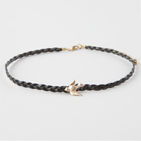 Full Tilt Braided Bird Choker Black One Size For Women 26084410001