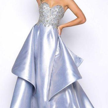 MDIGMS9 Mac Duggal 66010M Beaded Bodice Ball Gown