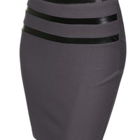 J.TOMSON Womens Detailed Pencil Skirt