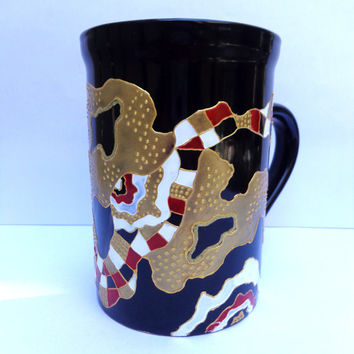 Abstract Mug. Hand painted mug