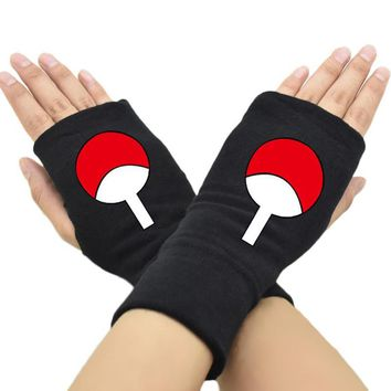 Naruto Sasauke ninja 2018 New Men Women Fingerless Gloves Anime  Uchiha Sasuke Cotton Knit Wrist Glove Accessories Cosplay Mitten Hip-pop AT_81_8