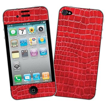 Red Gator Skin for the iPhone 4/4S by skinzy.com