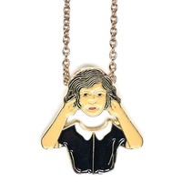 Floating Head Necklace