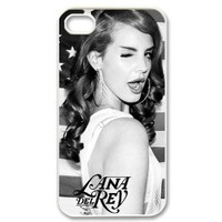 Custom Aesthetic iphone 4/4s Hard Case Cover with American singer-songwriter Lana Del Rey Born to Die Best case show 1yb444