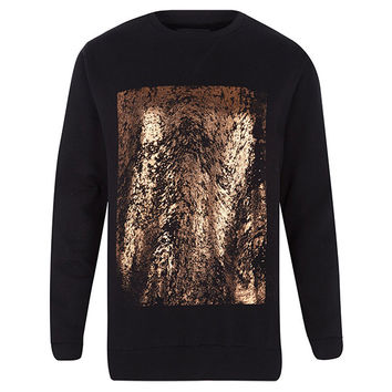 Black and Copper Sweatshirt
