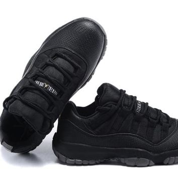 Nike Air Jordan XI 11 Retro Low Womens Shoes All Black All