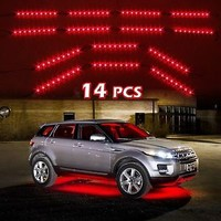 14pc Car Truck Underglow Under Body Neon Accent Glow LED Lights Kit 3Mode - RED
