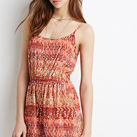 Abstract Print Cami Romper