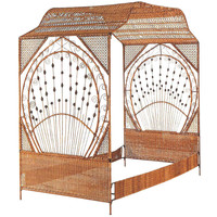 A Fine Decorated Wicker Canope Bed, featured in Architectural Digest
