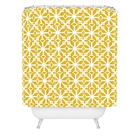 Heather Dutton Diamante Gold Shower Curtain