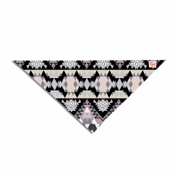 "Victoria Krupp ""Nordic Ice"" Black Pastel Digital Pet Bandana"