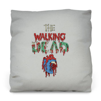 Walking Dead Heart Throw Pillow